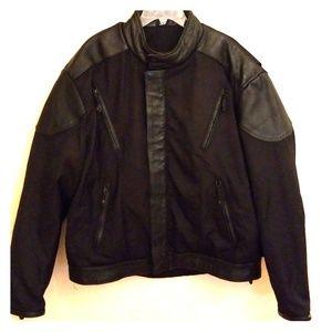 Men's UNIK Motorcycle Leather & Nylon Jacket